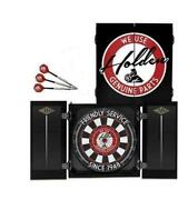 125961 Holden Dartboard Dart Board In Timber Cabinet With 3 Brass Darts Gift Set