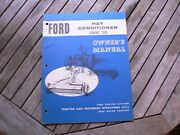 Ford Tractor Hay Conditioner Series 510 Owner Operator Manual Guide Book Set Up