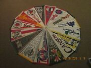 Minor League Baseball Vintage Lot Of 16 With 9 Defunct Team Logo Pennants