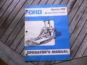 """Ford Tractor 939 60"""" Rotary Cutter Owners Operators Manual Guide Book Set Up"""