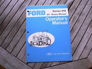 """Ford Tractor 915 60"""" Rotary Cutter Owners Operators Manual Guide Book Set Up"""