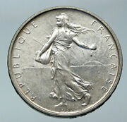1964 France La Semeuse French Sower Woman Old Large Silver 5 Francs Coin I85874