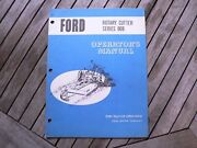 Ford Tractor 908 Rotary Cutter Owners Operators Manual Guide Book Setting Up