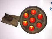 Early Red Glass Marble Federal Reflector Vintage Old Truck Bus Van Semi Car