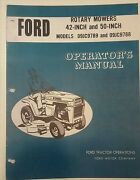 Ford Lawn Garden Tractor Implement 42 And 50 Rotary Mower Owner And Parts 2 Manuals