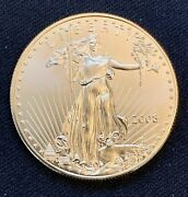 2008-w American Gold Eagle 1 Oz 50 Coin - Add To Your Bullion Collection