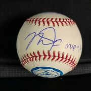 Mike Trout Signed And Inscribed Al Mvp Ball - Very Rare - Jsa Full Letter.
