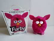 2012 Hasbro Hot Pink / Fuschia Furby Boom Interactive, Learning Toy Pet Works