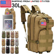 30l/35l Military Tactical Backpack Hiking Camping Rucksack Bag Travel Outdoor