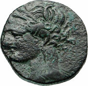 Carthage Rare Ancient First Punic War 241bc Greek Coin Tanit Horse I85703