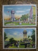 2 Different Vtg Antique Postcards Soldiers And Sailors Monument Riverside Dr Nyc
