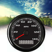 Universal 85mm 3-2/5and039and039 Gps 140mph 8-pin Car Motorcycle Speedometer Gauge W/cable