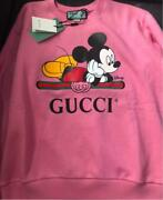 Disney Oversize Mickey Mouse Sweat Tops Size S Pink Cotton