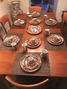 Service For 10 Vintage Imari Takahashi Dishes 51 Pieces