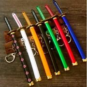Sword Keychains With Stand, Scabbard And Katana - Gl 13cm - 15cm