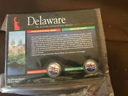Colorized 1998 Delaware P And D State Quarters Statehood Painted Quarter Coin Set