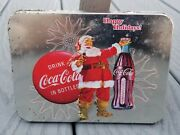 Vintage Official Coca Cola Brand Tin With 2 Sets Of Sealed Playing Cards New