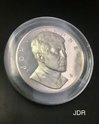 Large Rare Jfk Kennedy Proof Silver Medal - Free Shipping