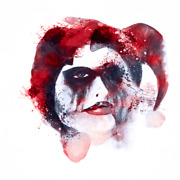 Rare Harley Quinn Skull Limited Edition Giclee Art Print Plate Signed