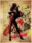 Rare Harley Quinn Limited Edition Giclee Art Print Plate Signed