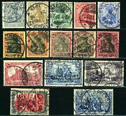 German Empire 65c-74 75-78 79 Postage Stamp Collection 1902 Used