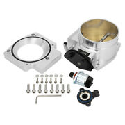 For Ls1 Ls2 Ls6 Silver 92mm Throttle Body + Tps + Intake Manifold Adapter Plate