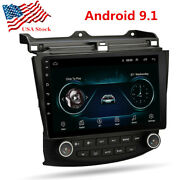 10.1 Inch Android 9.1 Car Radio Mp5 Player Gps Ac Climate For Honda Accord 03-07