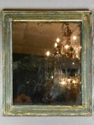 19th Century French Mirror With Timeworn Glass And Patinated Timber Frame 23andfrac34 X