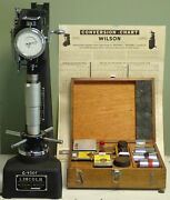 Lincoln Hardness Tester With Original Wood Accessory Case Original Weights