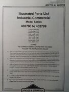 Briggs Stratton 16 Hp Vertical Opp I/c Twin Engine 402700 To 402799 Parts Manual