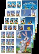 Looney Tunes Complete Set Of 5 Sheets Of 10 Postage Stamps