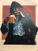 Aldo Luongo The Hawk And The Mug 1979 Lithograph Print W/coa, Signed Numbered
