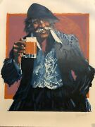 Aldo Luongo The Hawk And The Mug 1979 Lithograph Print W/coa Signed Numbered