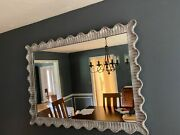 Vintage Silver Leafed Scalloped Mirror