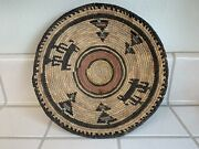 Vintage Hausa Tribal Basket From Northern Nigeria. Hand Woven Basket / Bowl.