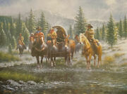 Jack Terry Leavin Line Camp Cowboy Mountain Art Print-signed 22.5 X 17