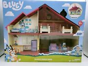 New Bluey Blue Heeler Dog Bluey's Family Home House Playset Ships Today Pack Go