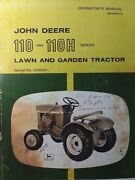 John Deere 110 Round Fender Lawn Garden Tractor Owner Parts And Suppl 2 Manual S