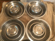 1963 1964 Cadillac Coupe Deville Sedan Fleetwood Hubcaps Wheel Covers    Dd73