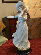 Rare 13.5 Guiseppe Armani 'vanessa, Lady With Fan' Figurine With Box Made 1973
