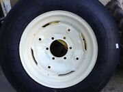 Two 600x16,6.00-16 6 Ply 3 Rib Tractor Tires W/rims