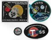 Original Ccafs 45sw Spacex F9 Tess Mission Launch Patch And Coin Set -4pc