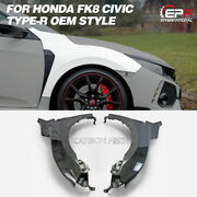 Oe Carbon Glossy Front Fender Mudguards Kit For Honda Civic Fk8 Tyr
