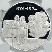 1974 Iceland Four Spirits And Vikings Old Proof Silver 1000 Kronor Coin Ngc I86012