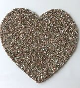 Nicole Miller Pink Gold Ivory Beaded Sequin Heart Placemat Charger Valentine New