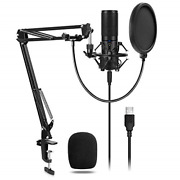 Tonor Usb Microphone Kit Q9 Condenser Computer Cardioid Mic For Podcast Game