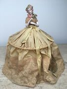 Reserved Antique Beautiful Goebel Arms Away Half Doll Boudoir Electrical Lamp