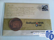 2015 Centenary Of Ww1 Gallipoli Medallion Pnc Cover Numbered 1913