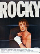 Poster Folded 47 3/16x63in Rocky 1977 Sylvester Stallone, Talia Shire New