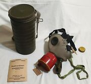 Gas Mask Zandc Model + Canister And Instructions Royal Army Romania Germany 1939 Ww2